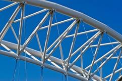 Modern Bridge. In the Garbatella District, Rome, Italy royalty free stock photos