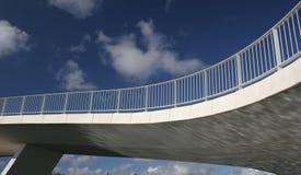 Modern bridge. On blue sky background royalty free stock photography
