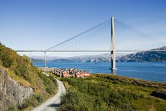 Modern bridge Stock Images