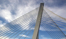 Modern Bridge. In Podgorica royalty free stock images