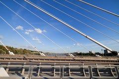 Modern Bridge Abstract Architecture Stock Photo