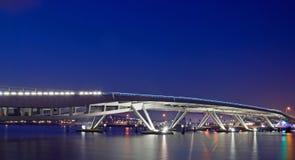Modern bridge, Amsterdam stock image