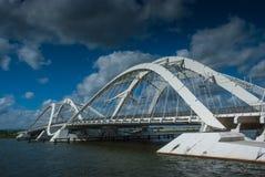Modern bridge Amsterdam Royalty Free Stock Image