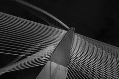 Modern Bridge Architecture - Jambatan Seri Wawasan Royalty Free Stock Photo