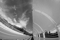 Modern bridge in Belluno, Dolomites , Italy. Royalty Free Stock Photography