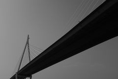 Modern bridge black and white Royalty Free Stock Photo