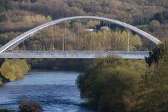 Bridge over the river Miño royalty free stock photography