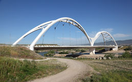 Modern bridge in Cordoba, Spain Royalty Free Stock Images