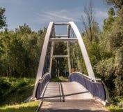 Modern bridge on cycle-path Stock Images