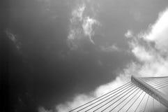 Modern bridge detail Royalty Free Stock Photo