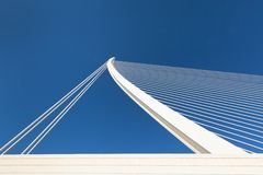 Modern bridge fragment Stock Photography