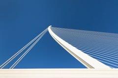 Modern bridge fragment. White against bright blue Stock Photography