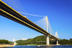 Modern bridge in Hong Kong Stock Photo