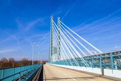 Modern bridge in an Industry Park Stock Photos
