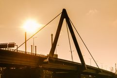 Modern Bridge on late Afternoon Stock Photography
