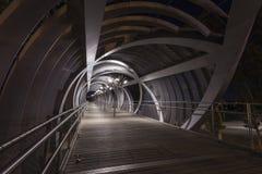 Modern bridge in madrid Royalty Free Stock Photo