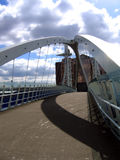 Modern Bridge in Manchester Quay. S stock photo