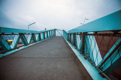 Modern Bridge near city beach in Hague, evening time Stock Images