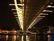 Modern Bridge by Night Stock Images