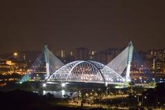Modern Bridge at Night royalty free stock image