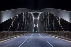 Modern Bridge at night Stock Photography
