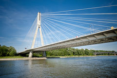 Modern bridge over river Royalty Free Stock Photography