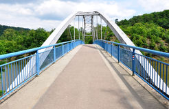 Modern bridge over the river Svratka, Czech Republic, Europe Stock Photography