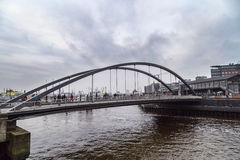 Modern bridge in Port of Hamburg Royalty Free Stock Images