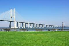 Modern bridge, Portugal. Royalty Free Stock Photo
