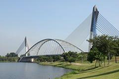 Modern bridge in Putrajaya Stock Photo