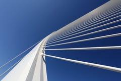 Modern bridge pylon Royalty Free Stock Images