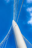 Modern bridge pylon Stock Photos