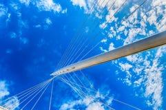 Modern bridge pylon Royalty Free Stock Image