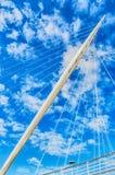 Modern bridge pylon Royalty Free Stock Photography