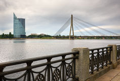 Modern bridge in Riga Stock Photography