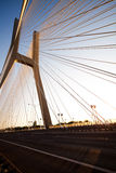 Modern bridge, saturated landmark view Stock Photos