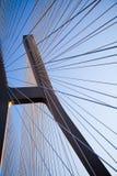 Modern bridge, saturated landmark view Royalty Free Stock Photo