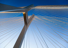 Modern bridge, saturated landmark view Royalty Free Stock Photos