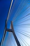 Modern bridge, saturated landmark view Royalty Free Stock Image