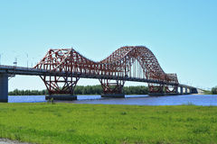 The modern bridge in Siberia Royalty Free Stock Photos