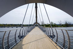 Modern bridge in Solvesborg Stock Images