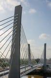 Modern bridge spanning a river in Lobito, Angola. Modern bridge spanning a brown river in Lobito, Angola Royalty Free Stock Photos