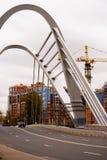 Modern bridge of St. Petersburg. Royalty Free Stock Photos