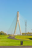 Modern bridge (Swietokrzyski) in Warsaw, Poland Royalty Free Stock Images