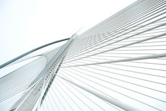 Modern bridge to get shape & lines Stock Photography