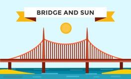 Modern bridge vector illustration Stock Photography
