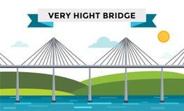 Modern bridge vector illustration Royalty Free Stock Photography