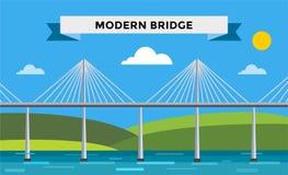 Modern bridge vector illustration Stock Image