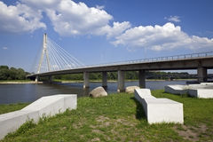 Modern bridge in Warsaw Royalty Free Stock Image