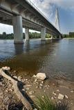 Modern bridge in Warsaw Stock Images